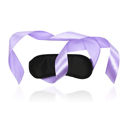Shiduoli Máscara de Ojos de Tela de Juguete con Gafas Negras de Cinta púrpura Sexy Productos para Adultos