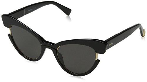 Max mara mm ingrid ir 807, occhiali da sole donna, nero (black/gy grey), 49