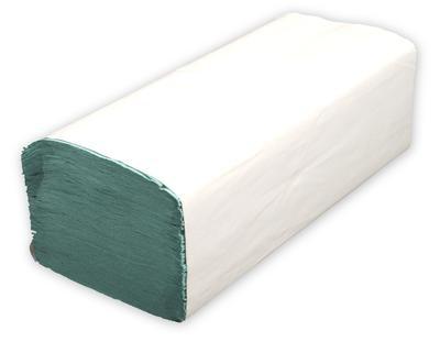 Papierhandtücher 25 x 23 cm ZickZack Grün VE = 5000 Stück