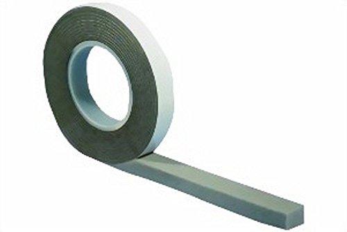 5,6 m Komprimierband 15/6 grau, Bandbreite 15mm, expandiert von 6 auf 30 mm | Kompriband | Fugendichtband | Komprimiert | Quellband