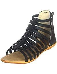 WOMENS FASHION PRO Women's Flat Gladiator Sandals