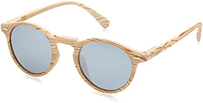 D.Franklin ULTRA LIGHT IWOOD / MIRROR - gafas de sol, unisex, color plateado, talla UNI