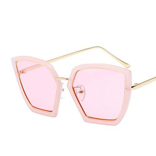 OIBHFO Home Herren Sonnenbrillen Frauen Eleganz Unregelmäßige Sonnenbrillen weibliche Flut rundes Gesicht Korea Retro Sonnenbrille - Korea Sonnenbrillen Männer