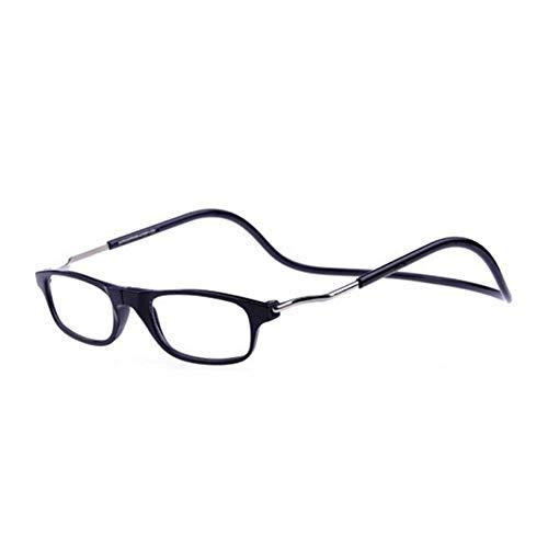 Sicher und harmlosBeleben Sie die Ermüdung der Augen wieder Magnetische Lesebrille. Unisex, bequem mit schwarzem Kunststoffrahmen +1.0 Sicher und harmlosBeleben Sie die Ermüdung der Augen wieder