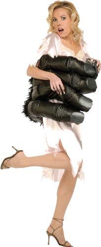 Rosa Kleid Satinoptik King Kong Affenhand Taille Filmszene Gr. (Kostüm Gorilla Rosa)