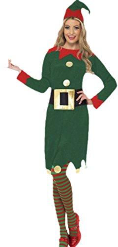 erdbeerloft - Damen Weihnachselfe- Elfenkleid mit Gürtel und Hut, M, ()