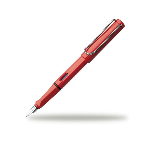 LAMY safari Bold Nib Fountain Pen - Red