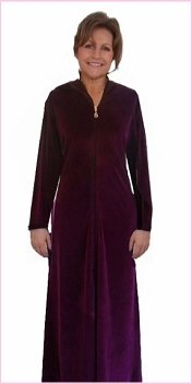 SHLOMPER KAFTSN ROBE (MED 12-14, RICH PLUM): Amazon.co.uk: Clothing
