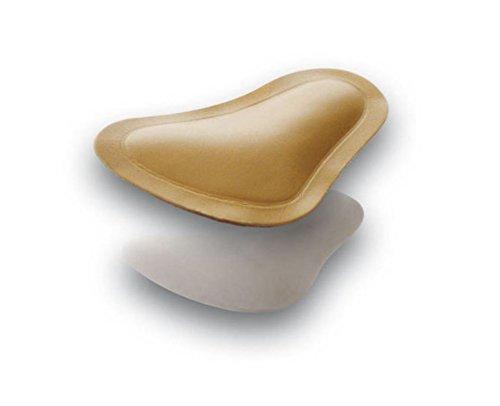 2 Paar (4Stück) orthopädische Pedag T-Form Spreizfußpelotte, Spreizfußstütze zu einkleben in Schuhe oder Sandalen (Gr.38-40, braun)