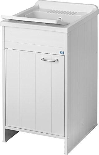 Negrari 9006K, Lavamanos para interior / exterior,  L45 x P50 x H85 cm, blanco