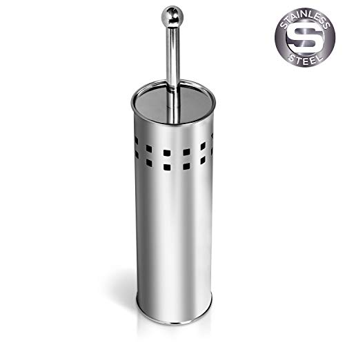 Tatkraft shuttle portascopino wc bagno in acciaio inossidabile 38h cm