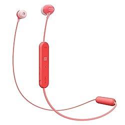 Sony WI-C300 Wireless In-Ear Headphones (Red)