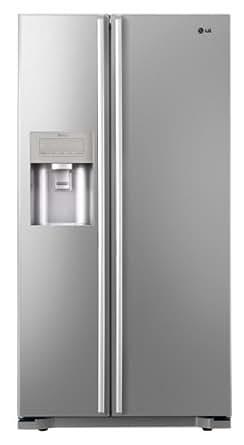 LG GS5163PVLZ Side-by-Side Kühl-Gefrier-Kombination (A++, 354 L Kühlen, 173 L Gefrieren, Eis-, Crushed Ice- und Wasserspender, Fresh O Zone) premium platinum