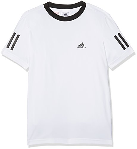 adidas Jungen B Club T-Shirt, White/Black, 140