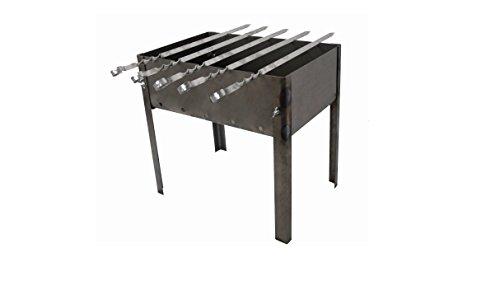 31hB509so7L - Grill zerlegbar–Typ Mangal Russische oder Kaukasus–Montage und Demontage sehr einfache–klein–40x 28x 40cm