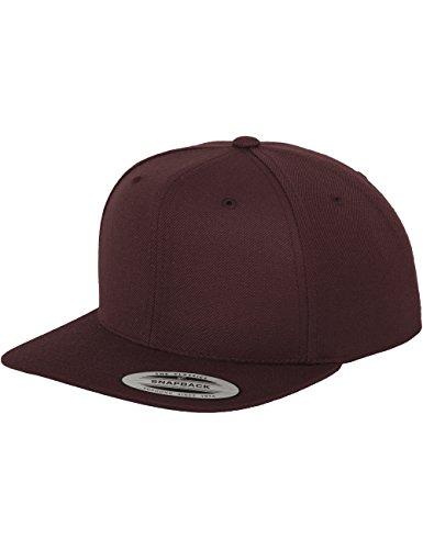 Damen Mütze (Flexfit Classic Snapback Cap, Mütze Unisex Kappe für Damen und Herren, One Size, Farbe maroon)