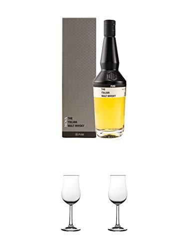 Puni Nova Single Malt Whisky Italien 0,7 Liter + Nosing Gläser Kelchglas Bugatti mit Eichstrich 2cl und 4cl 1 Stück + Nosing Gläser Kelchglas Bugatti mit Eichstrich 2cl und 4cl 1 Stück -
