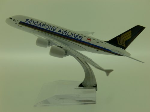 die-cast-model-of-airbus-a380-16cm-1400-scale-in-choice-of-airline-liveries-singapore-airlines