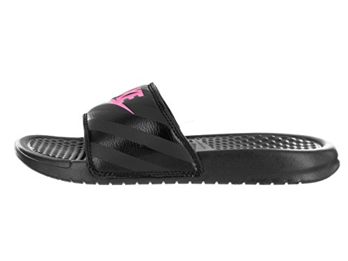Nike Benassi Just Do It, Chaussures de Plage et Piscine Femme, Bright Mango-White-Bright Mango, 41 EU Black / Vivid Pink-Black