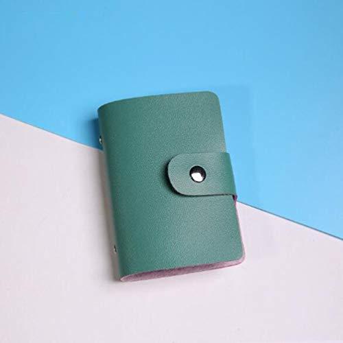 Kreative stilvolle Kartenetui 24 Slots PU-Leder-Visitenkartenhalter Männer Frauen Credit Passport Card Tasche ID Card Wallet - Armee-Grün -