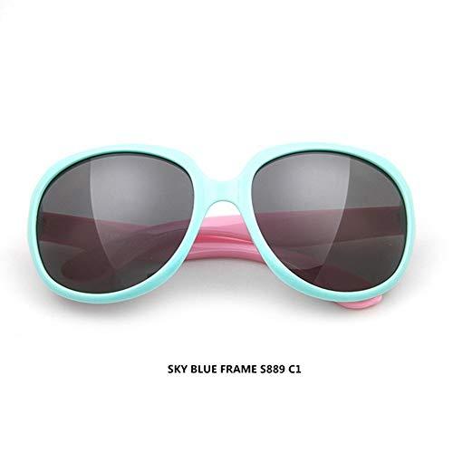 Mojinglin occhiali da sole per bambini occhiali da sole polarizzati occhiali da sole uv400 fashion girls big box occhiali da sole colorati, g