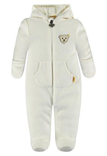 Steiff Baby-Mädchen Schneeanzug Overall 1/1 Arm Fleece, Weiß (Whisper White 1100), 74