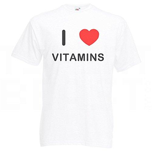 I Love Vitamins - T-Shirt Weiß