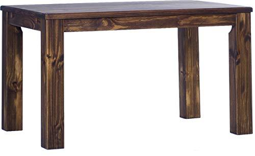 Brasilmöbel Esstisch Rio Classico 150x90 cm Eiche antik Massivholz Pinie Holz Esszimmertisch Echtholz Größe und Farbe wählbar ausziehbar vorgerichtet für Ansteckplatten