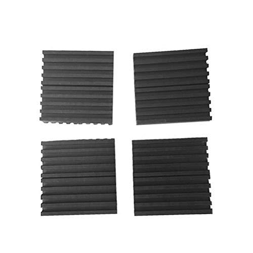 Vosarea 4Pcs Anti-Vibration Pads Ribbed Caoutchouc Solide Élastique Son Bruit et Isolement De Choc Matelas D'isolation
