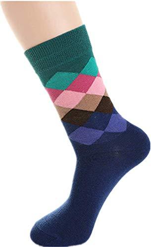 WENHUI Happy Socks Atmungsaktive Diamant Ölgemälde Gezeiten Herren Socken Baumwolle Casual Lange Tube Baumwolle Socken (Diamant Herren Socken)