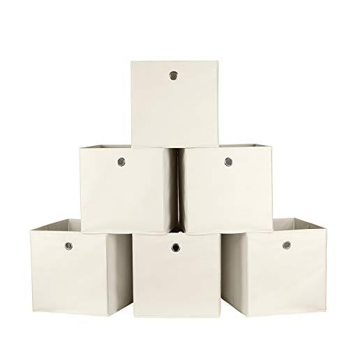 Homfa 6 Cajas Almacenamiento Tela Plegables Cajas