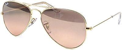 Ray-Ban Aviator RB3025001/3E marco de oro/Rosa espejo lente, 62mm, no polarizado gafas de sol de la mujer