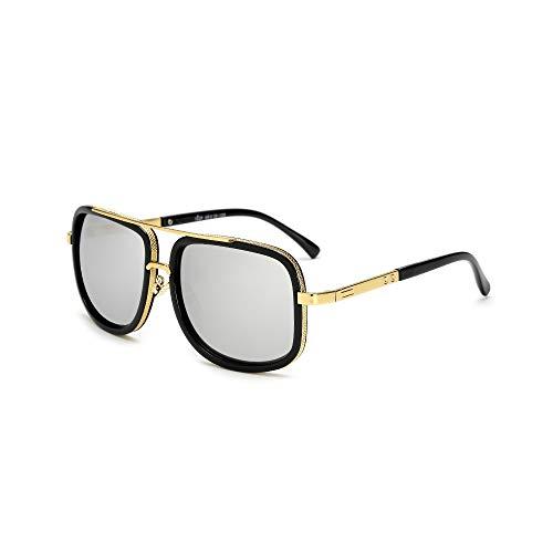 WEIHAOQIANG Übergroße Männer mach eine Sonnenbrille Männer Frauen Sonnenbrille Quadrat männlich weiblich Sonnenbrille