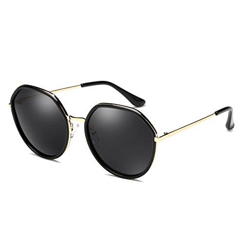 Lunettes de soleil ZHIRONG Mode Twin-Beams Classique Femmes Métal Cadre Miroir Cat Eye Lunettes (Couleur : 06) GPcfJ