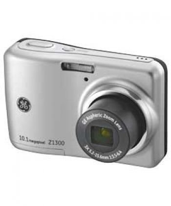 GE Z1300 Digital Camera 10.1 Megapixel with 3x Optical Zoom, 2.4 Inch LCD Silver