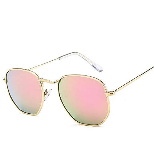 MINGW Mode Frauen Sonnenbrillen Damen Unregelmäßigen Spiegel Sonnenbrille Männer Vintage Metallrahmen Brillen