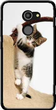 MOBILINNOV Alcatel A3 Bébé Chat, Mignon chaton Escalade Silikon Hülle Handyhülle Schutzhülle - Zubehor Etui Smartphone Alcatel A3 Accessoires
