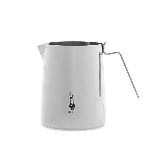 Bialetti nuovo elegance 100cl milk pitcher 100 cl, bollilatte, acciaio, inossidabile, silver