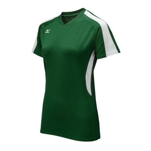 Mizuno Techno Volley IV Damen Trikot Kurzarm, Damen, Forest/White, X-Large