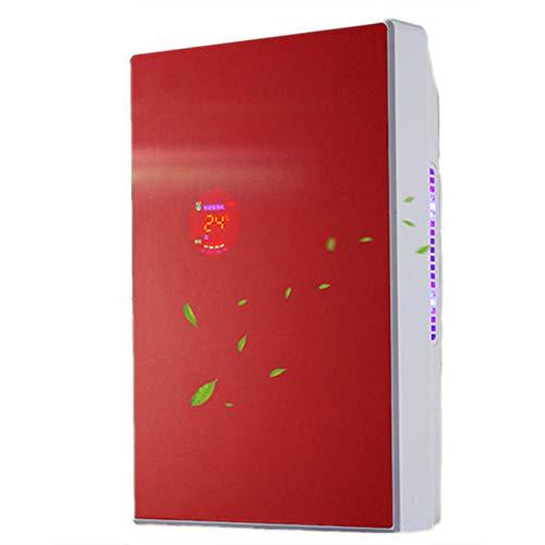 Ermian 220v Luftentfeuchter, Elektrischer Tragbarer Entfeuchter 1500ml Raumentfeuchter Leise Luftreiniger, Entfeuchter Raumentfeuchter Filter LuftküHler Luftreiniger Klimaanlage Ventilator,Red