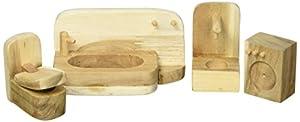 Lichee Toys 105012-Mueble de baño en Bolsa de algodón para niños pequeños