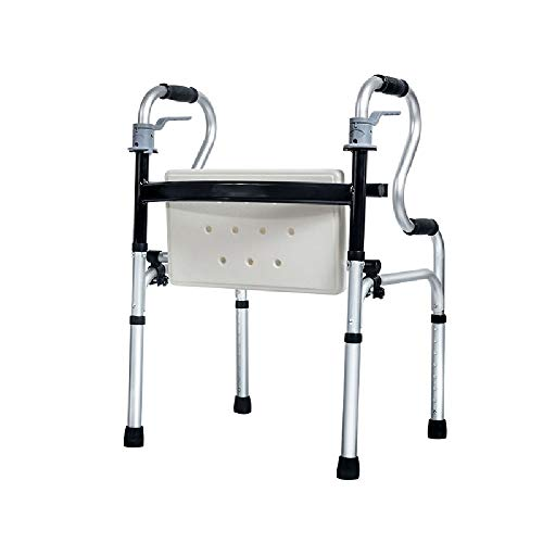 Bariatrischer Laufrahmen Für Erwachsene Leichtgewichtler Klappbarer Gehhilfe Mit Sitz Für Senioren | Mobilitätshilfe Für Behinderte Höhenverstellbar (rutschfest, Sicher Und Stabil)