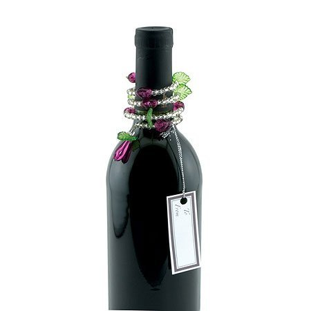 Epic 02-014Perlen Grapevine Style Wein Flasche Jewelry mit Gift-Tag (Set von 2)