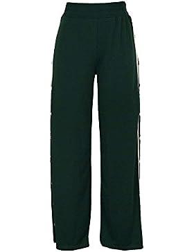 Pureed Verano Primavera Mujer Pantalon Moda Taille Alta Verticales De Pantalon Elastische Abiertas Remache Cintura...