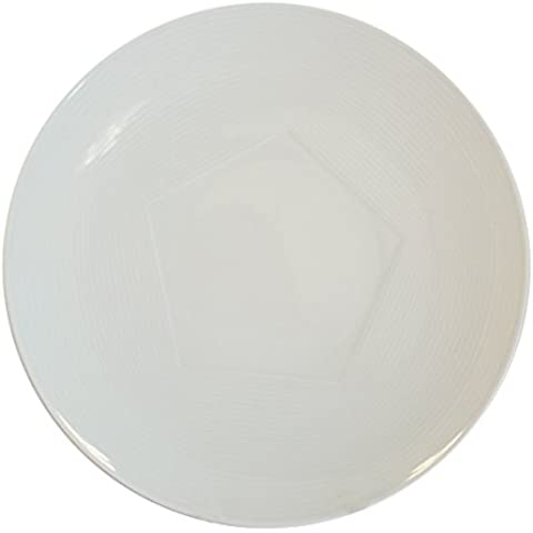 Cim Alta Gastronomía Philotaxia - Set de 6 platos llanos, forma de pentágono, 27 cm, color blanco