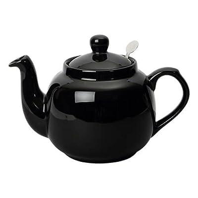 Théière en céramique avec filtre inox 1,5L noir brillant - FARMHOUSE - Bruno Evrard