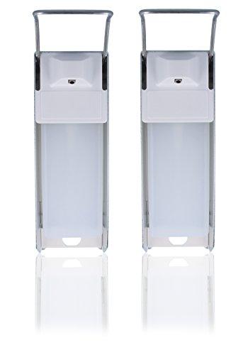 Desinfektionsspender, Desi- Wandspender, Aluminium für 500ml Euroflaschen (2x)