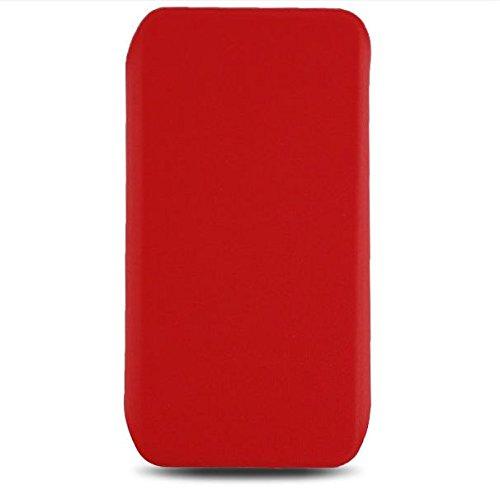 Saxonia 360° Stand Case für Apple iPhone SE / 5S / 5 hochwertige Schutzhülle mit Ständerfunktion | seitlich klappbar Magnetverschluss | Farbe: Rot 360° Stand Case rot