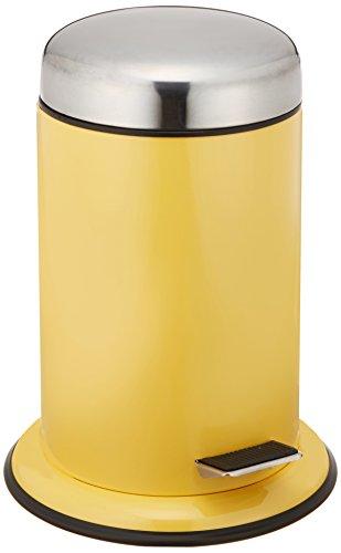 Wenko 21662100 Kosmetik Treteimer Retoro, Edelstahl rostfrei, 22 x 30,5 x 22 cm, gelb
