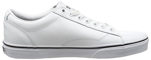 Vans Dawson, Baskets Basses Athlétiques Pour Homme Blanc (cuir Blanc / Blanc)